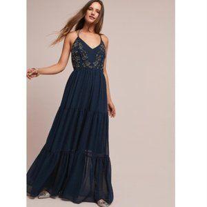 Anthro Ranna Gill Lucinda Beaded Maxi Dress